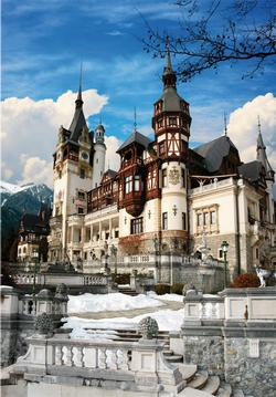 Peles Castle Portrait Travel Jigsaw Puzzle