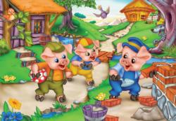 Three Little Pigs Cartoons Children's Puzzles