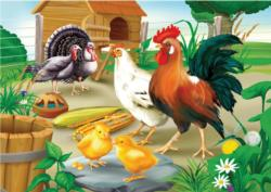 Farm Chickens Chickens & Roosters Children's Puzzles