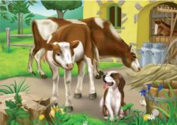 Farm Cows Farm Animals Jigsaw Puzzle