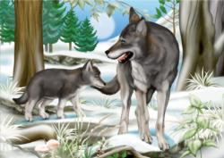 Forest Wolves Winter Children's Puzzles