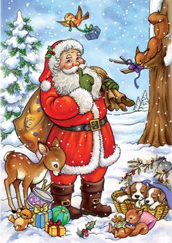 Santa Tells a Secret (35 pieces) - Scratch and Dent Christmas Jigsaw Puzzle