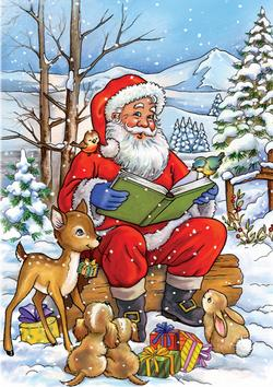 Santa Reads a Book Christmas Jigsaw Puzzle