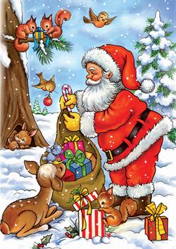 Santa with his Animals Santa Jigsaw Puzzle