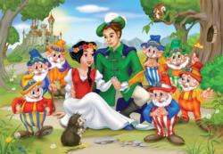 Snow White Family Portrait Cartoons Children's Puzzles