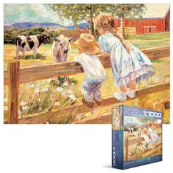 Family Memories - Kids on a Fence Farm Jigsaw Puzzle