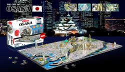 Osaka, Japan Maps / Geography 4D Puzzle