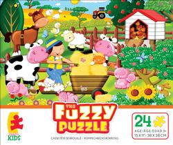 On The Farm (Fuzzy Puzzle) Farm Animals Jigsaw Puzzle