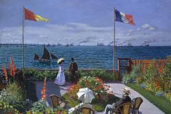 Garden at Sainte-Adresse by Claude Monet People