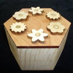 Hexagon Secret Lock Puzzle Box Brain Teaser