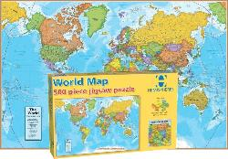 World Map Educational Jigsaw Puzzle