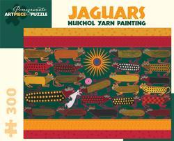 Huichol Yarn Painting - Jaguars Cultural Art Jigsaw Puzzle