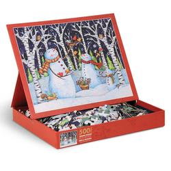 Birch & Snowmen Snowman Jigsaw Puzzle