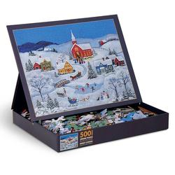 Snowy Evening Snow Jigsaw Puzzle