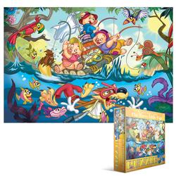 Three Little Pigs (Kids Classic Fairy Tales ) Fishing Jigsaw Puzzle