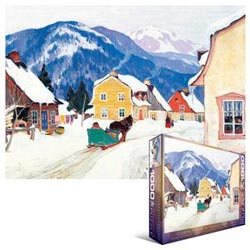 Laurentian Village Mountains Jigsaw Puzzle