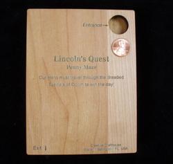 Lincolns Quest Penny Maze Puzzle Brain Teaser