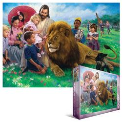 The Lion and the Lamb Lions Jigsaw Puzzle