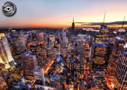 Manhattan Sunset Sunrise/Sunset Jigsaw Puzzle