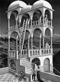 M.C. Escher - Belvedere Abstract Jigsaw Puzzle