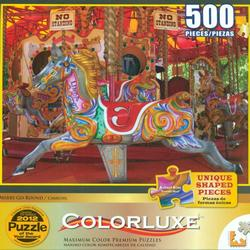 Merry Go Round (Colorluxe) - Scratch and Dent Carnival Jigsaw Puzzle