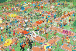 Crazy Golf Cartoons Jigsaw Puzzle