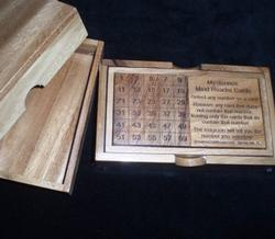 Mind Reader Cards in Wood Box Brain Teaser