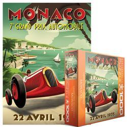 Monaco Nostalgic / Retro Jigsaw Puzzle