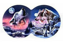 Moon Song Wolves Shaped Puzzle