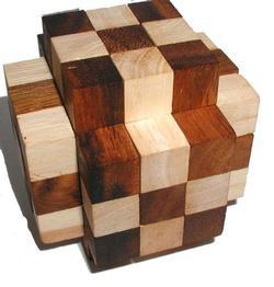 Muscle Cube (2-tone) Brain Teaser