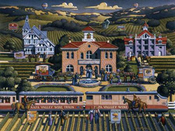 Napa Valley Folk Art Jigsaw Puzzle