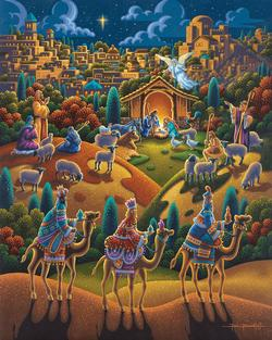 Nativity Folk Art Jigsaw Puzzle