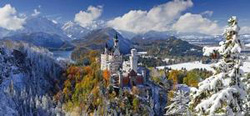 Neuschwanstein Castle Germany Panoramic Puzzle