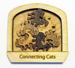 Connecting Cats Cats Wooden Jigsaw Puzzle