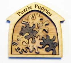Puzzle Puppies Dogs Wooden Jigsaw Puzzle
