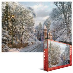 New England Christmas Stroll Winter Jigsaw Puzzle