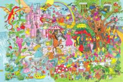 Fantasy Land Floor Puzzle (24pc) - Scratch and Dent Unicorns Jigsaw Puzzle