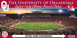 The University of Oklahoma Football Panoramic Puzzle