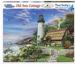 Old Sea Cottage Lighthouses Jigsaw Puzzle