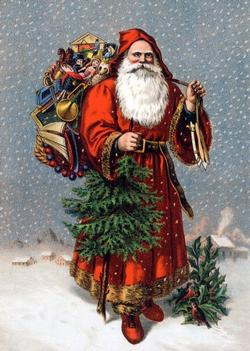 Old Saint Nicolas Christmas Wooden Jigsaw Puzzle