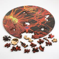 Orange Neural Network Round Science One of a Kind Puzzle