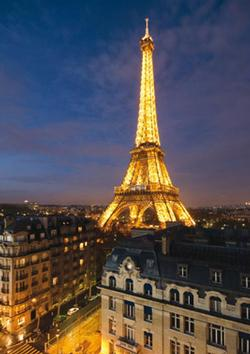 Paris - Eiffel Tower Skyline Eiffel Tower Jigsaw Puzzle