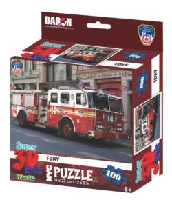 NYC - FDNY Fire Truck Vehicles Children's Puzzles