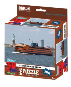 NYC Staten Island Ferry with Statue 3D Puzzle New York Children's Puzzles
