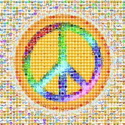 Peace (Emoji) Collage Large Piece