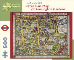 Peter Pan Map of Kensignton Gardens Maps / Geography Jigsaw Puzzle