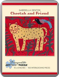 Cheetah and Friend Cartoons Miniature