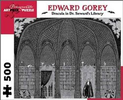 Dracula in Dr. Seward's Library Halloween Jigsaw Puzzle