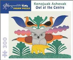 Owl at the Centre Cultural Art Jigsaw Puzzle