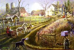 Pony Express Countryside Jigsaw Puzzle